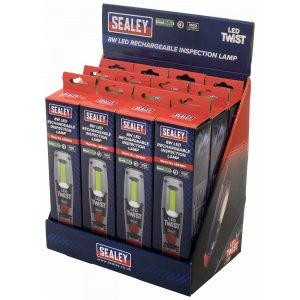 Sealey LED1001DB Rechargeable Inspection Lamp 8W LED - Display Box of 12-0