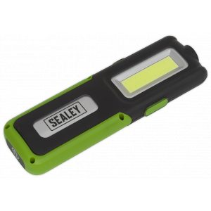 Sealey LED318G Rechargeable Inspection Lamp Green 5W COB + 3W LED + Power Bank-0
