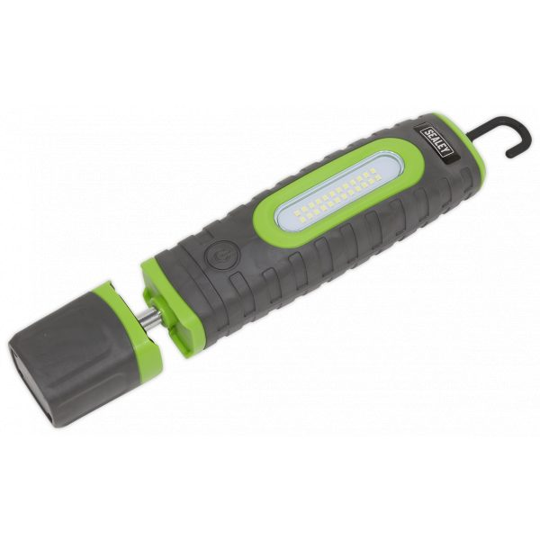 Sealey LED3606G Rechargeable 360° Inspection Lamp 24 SMD LED + 3W LED Green 2 x Lithium-ion-0