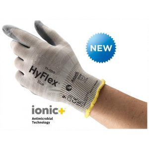 Ansell Hyflex 11-100 Anti Microbial Nitrile Coated Touch Screen Gloves-0